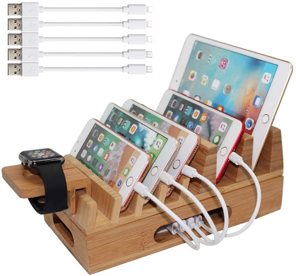 bamboo charging station amazon