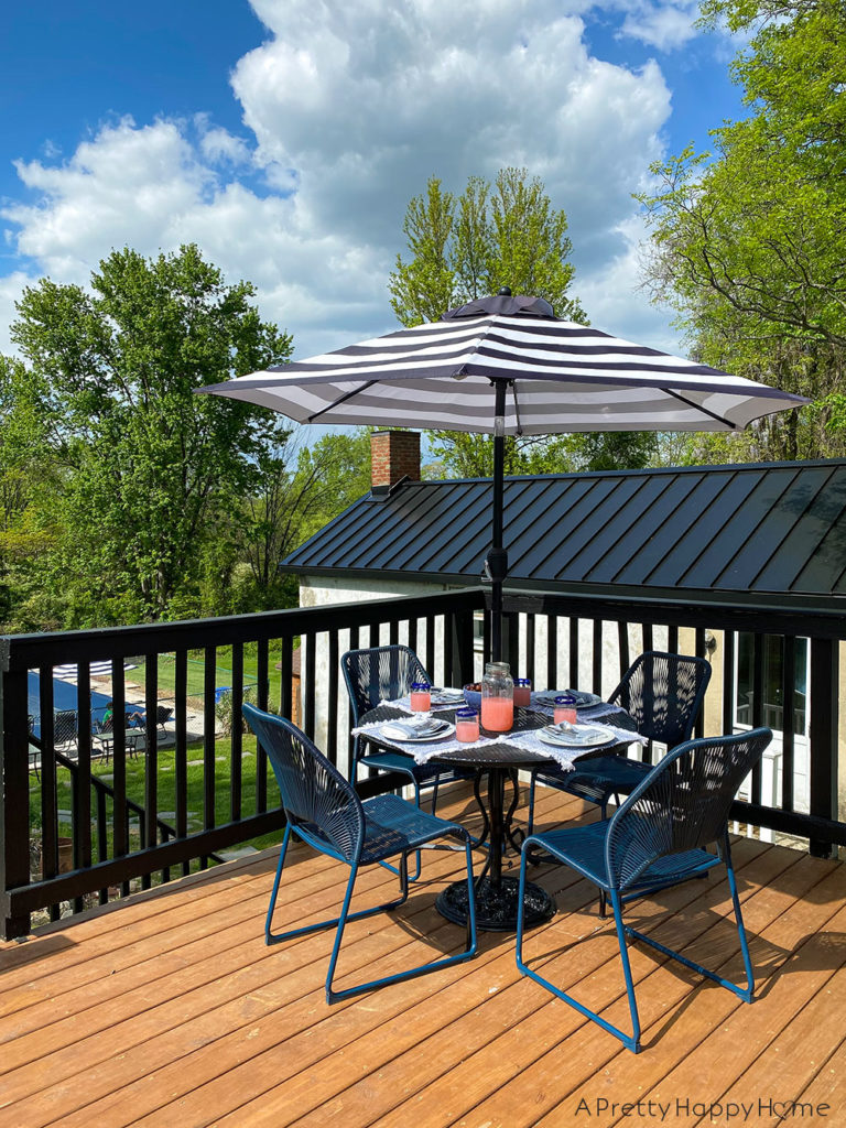 black and blue outdoor furniture
