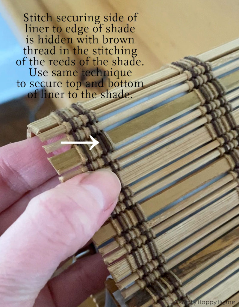 No Sew DIY Privacy Liner for Woven Shades