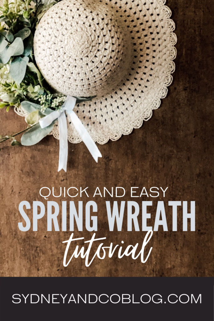 sun hat spring wreath by sydney and co blog on the happy list
