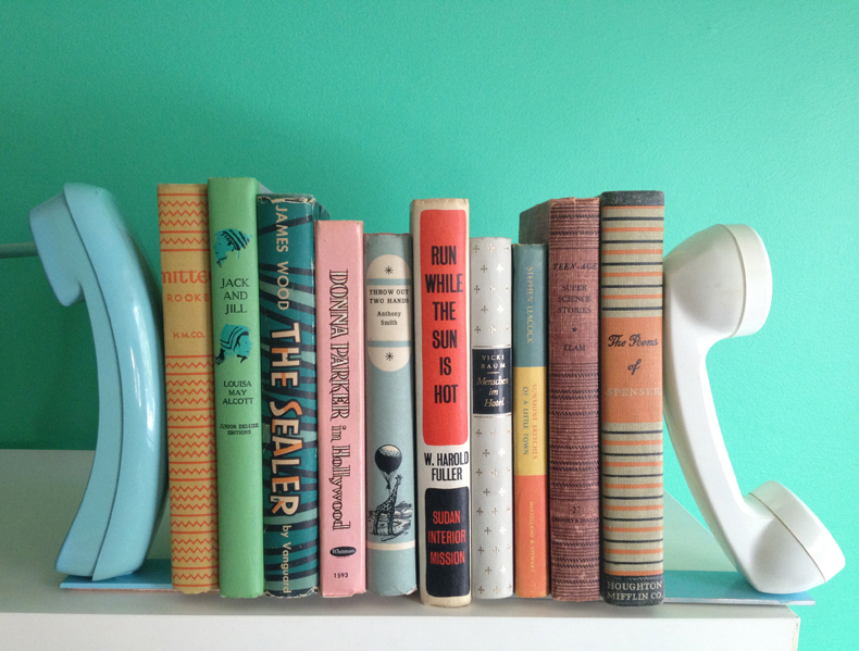 telephone bookend via A Beautiful Mess on the happy list