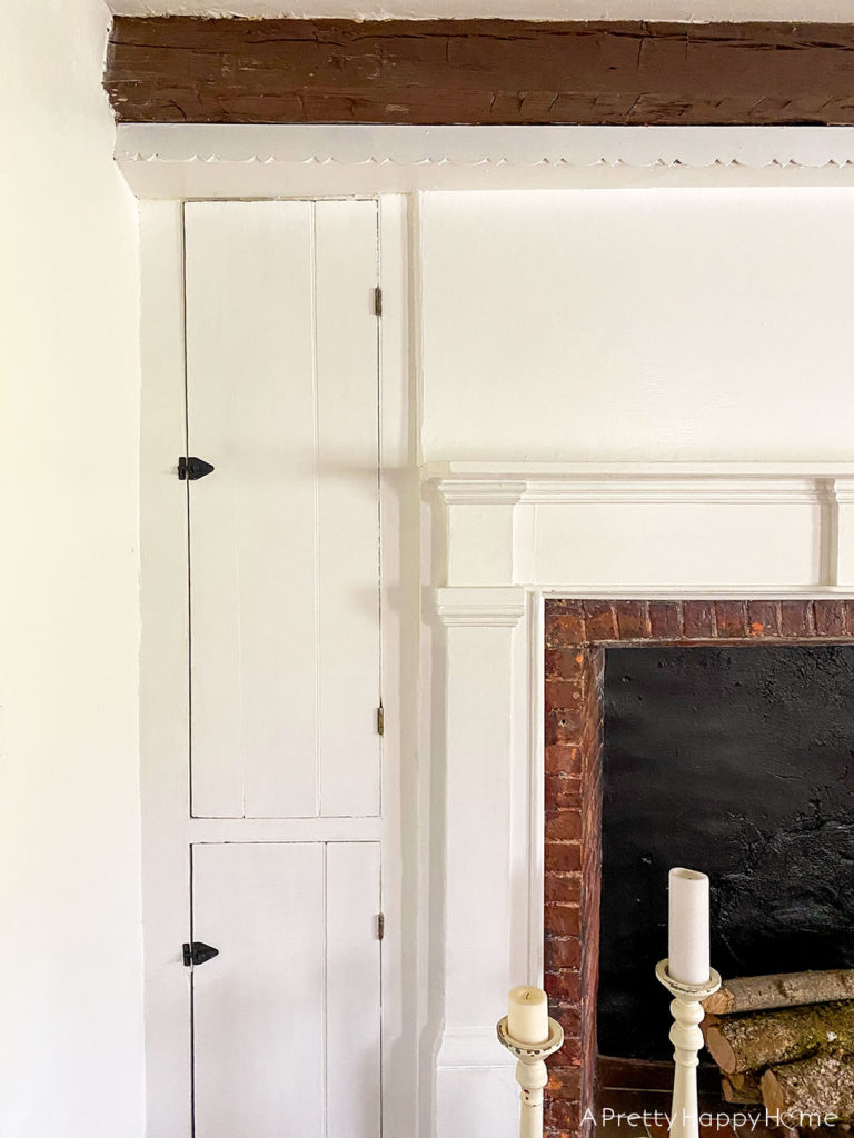 fireplace room With Antique Hardware