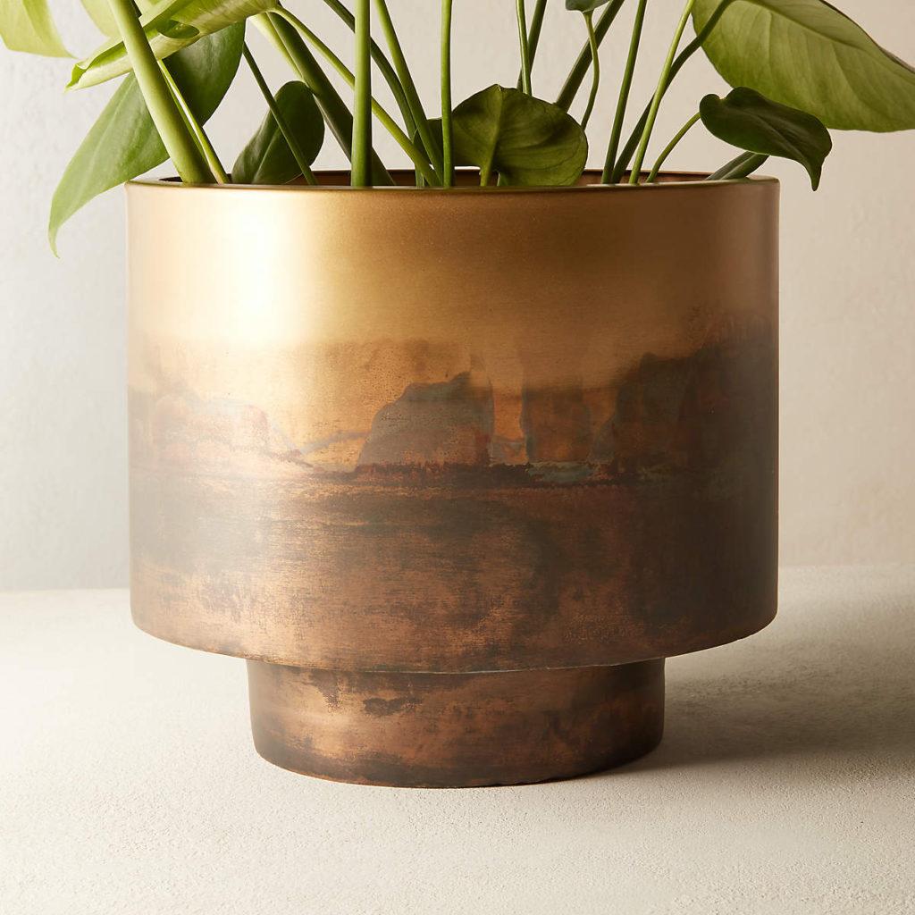 sahara brass planter cb2