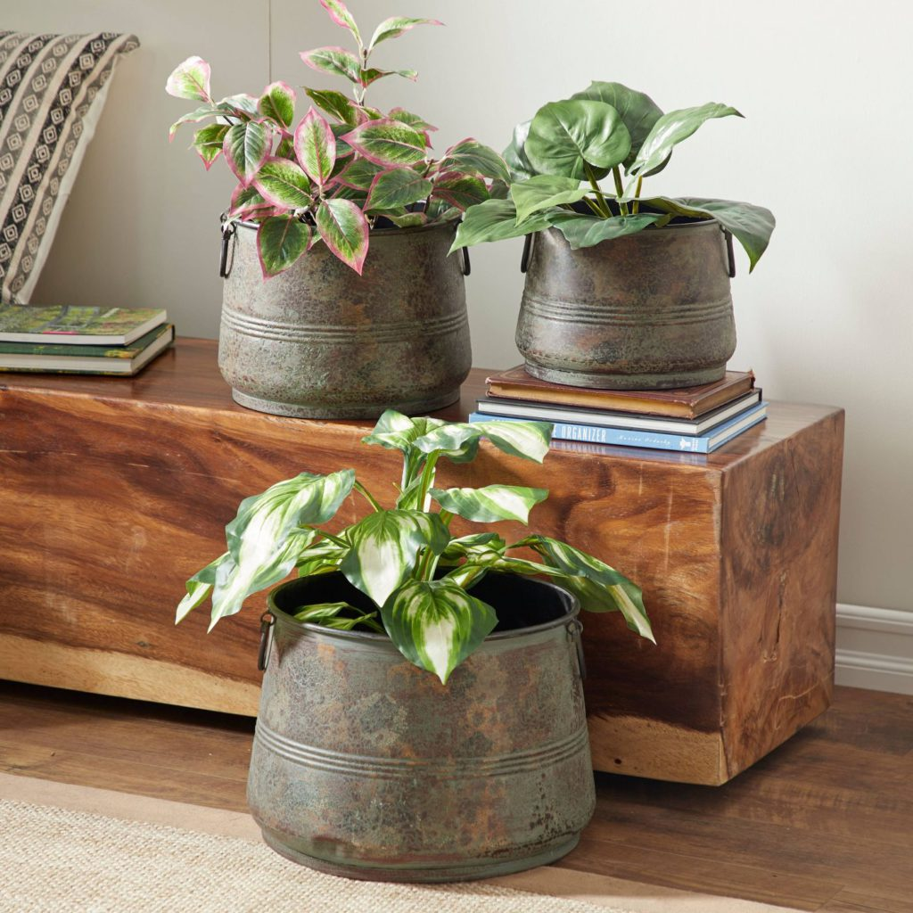olivia and may galvanized planter from target