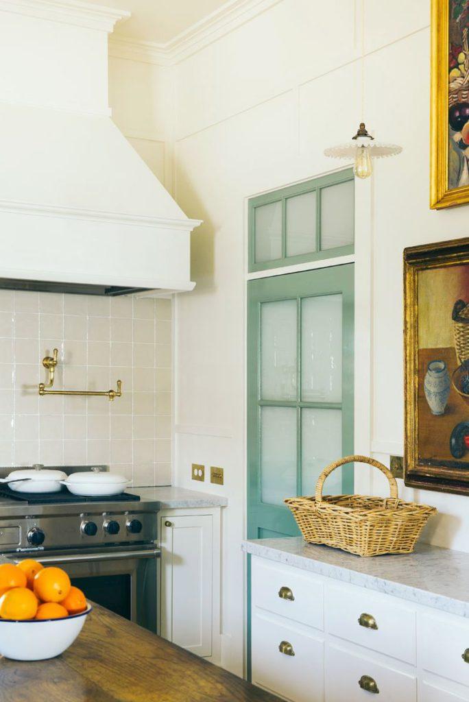 anna spiro design mint green door