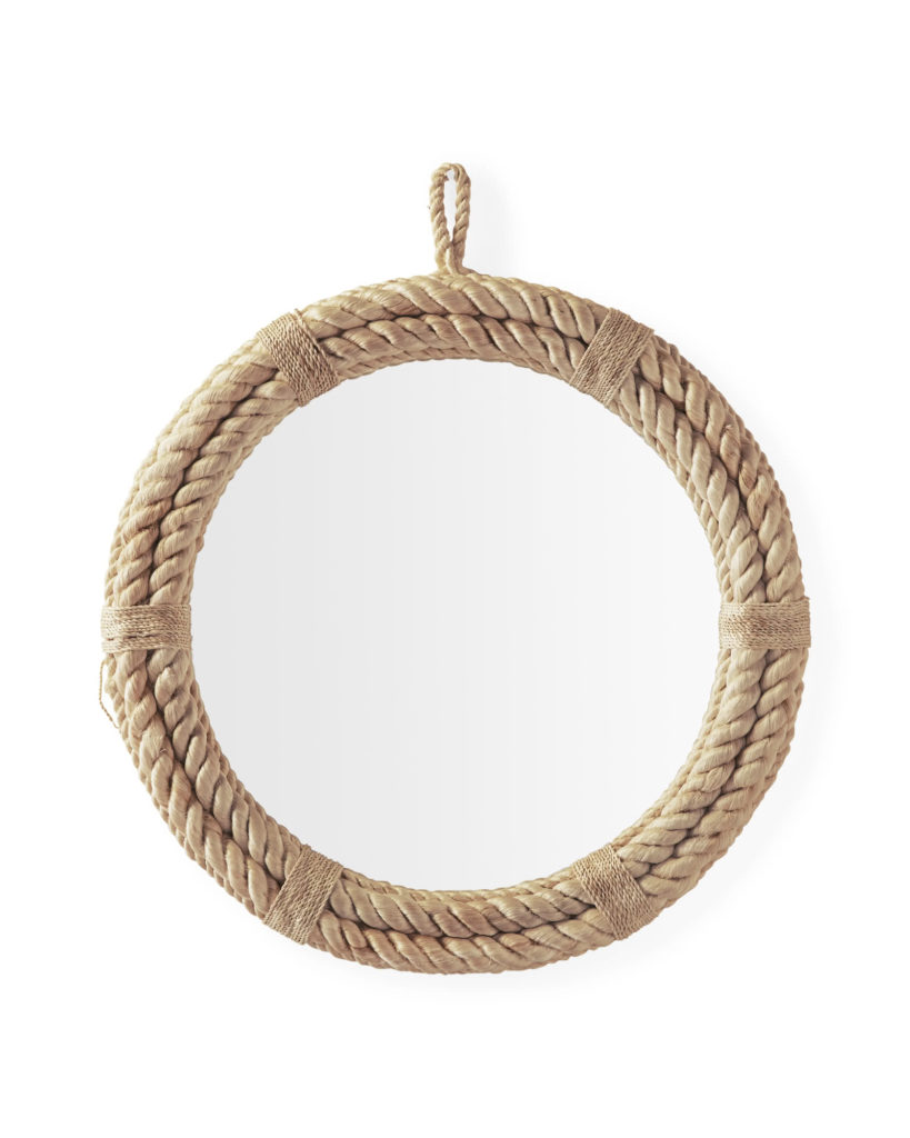 serena and lily round rope nautical mirror