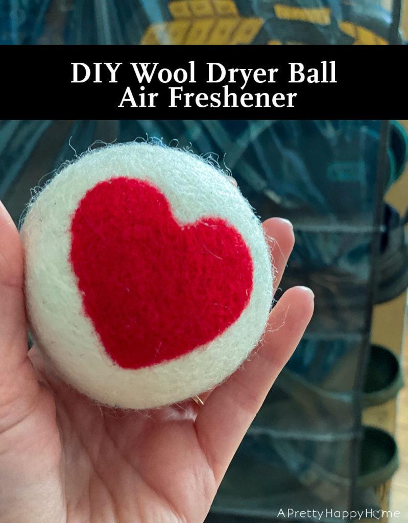 wool dryer ball air freshener on the happy list