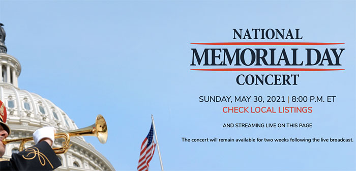 2021 National memorial day concert on the happy list
