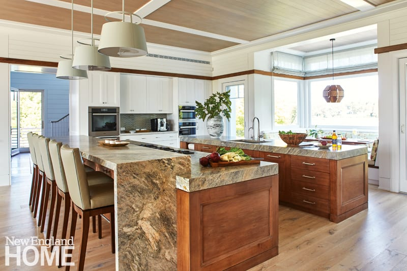 catalano osterville kitchen via new england home on the happy list
