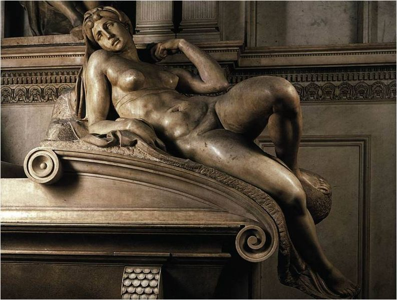 dawn by michelangelo via wikimedia commons 2011 by skeiter girl on the happy list