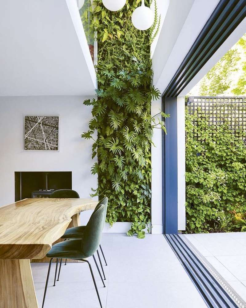 living wall by lucy gleeson interiors via my domaine on the happy list