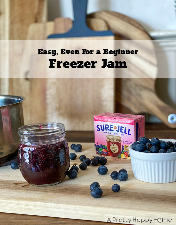 blueberry freezer jam easy freezer jam