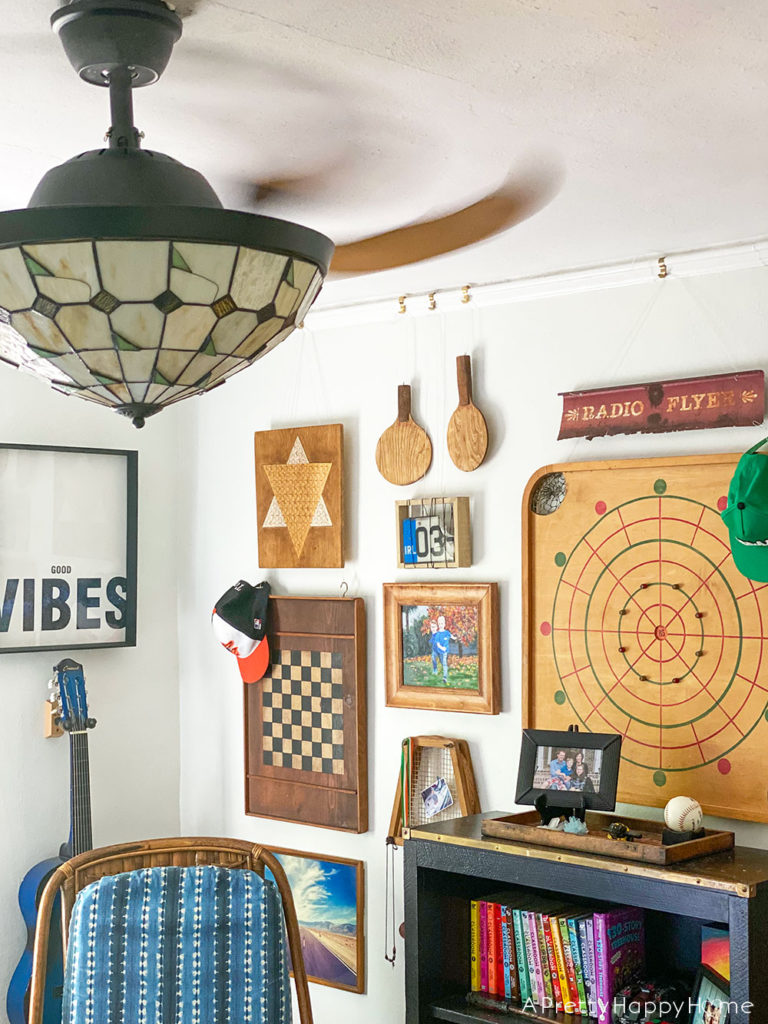 3 Reasons to Love Tiffany Style Lights tiffany style ceiling fan in vintage boys room