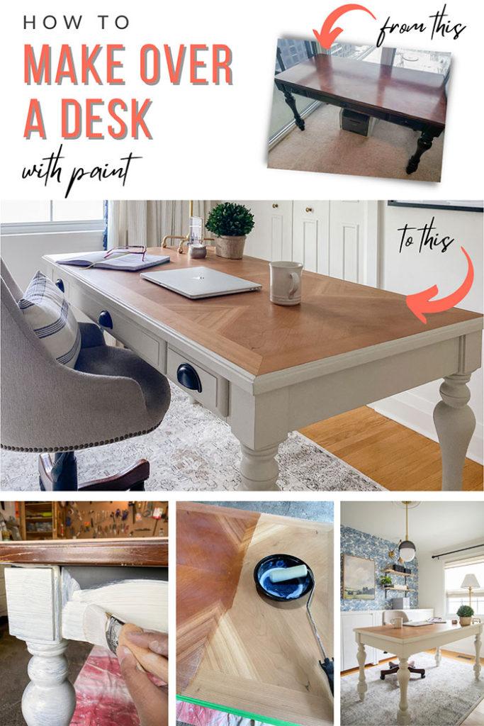 desk makeover rambling renovators on the happy list