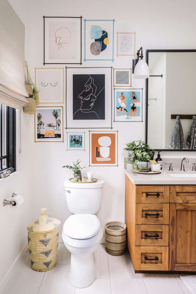washi tape wall gallery by honestly wtf photo by ANDREA POSADAS via My Domaine on the happy list