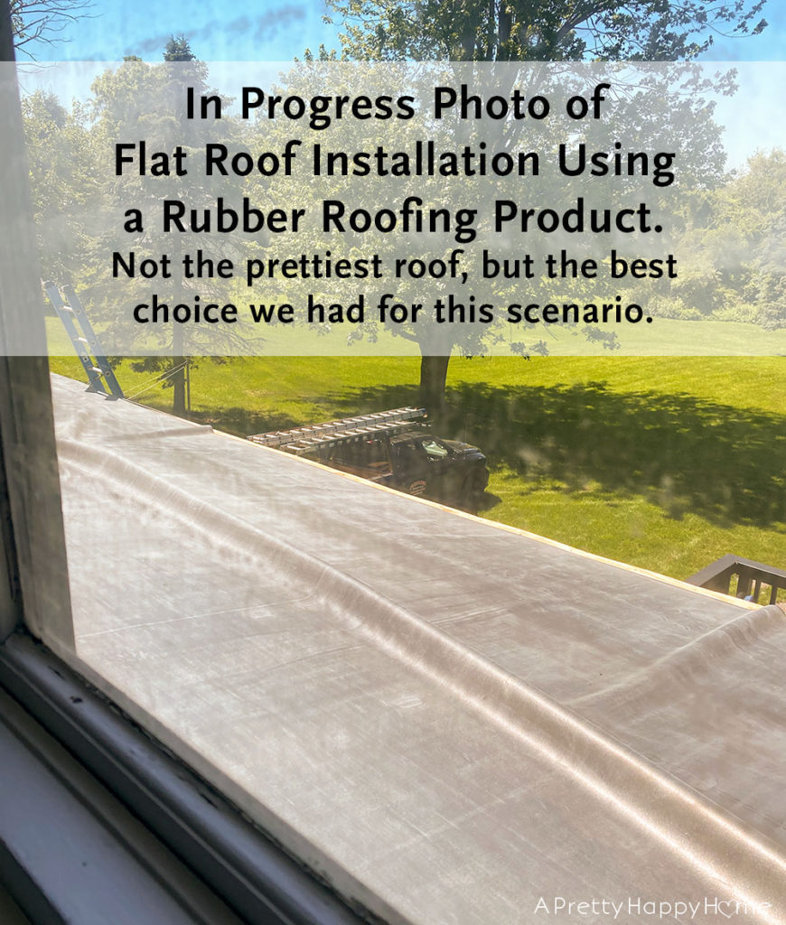 flat roof installation rubber roof outdoor project progress
