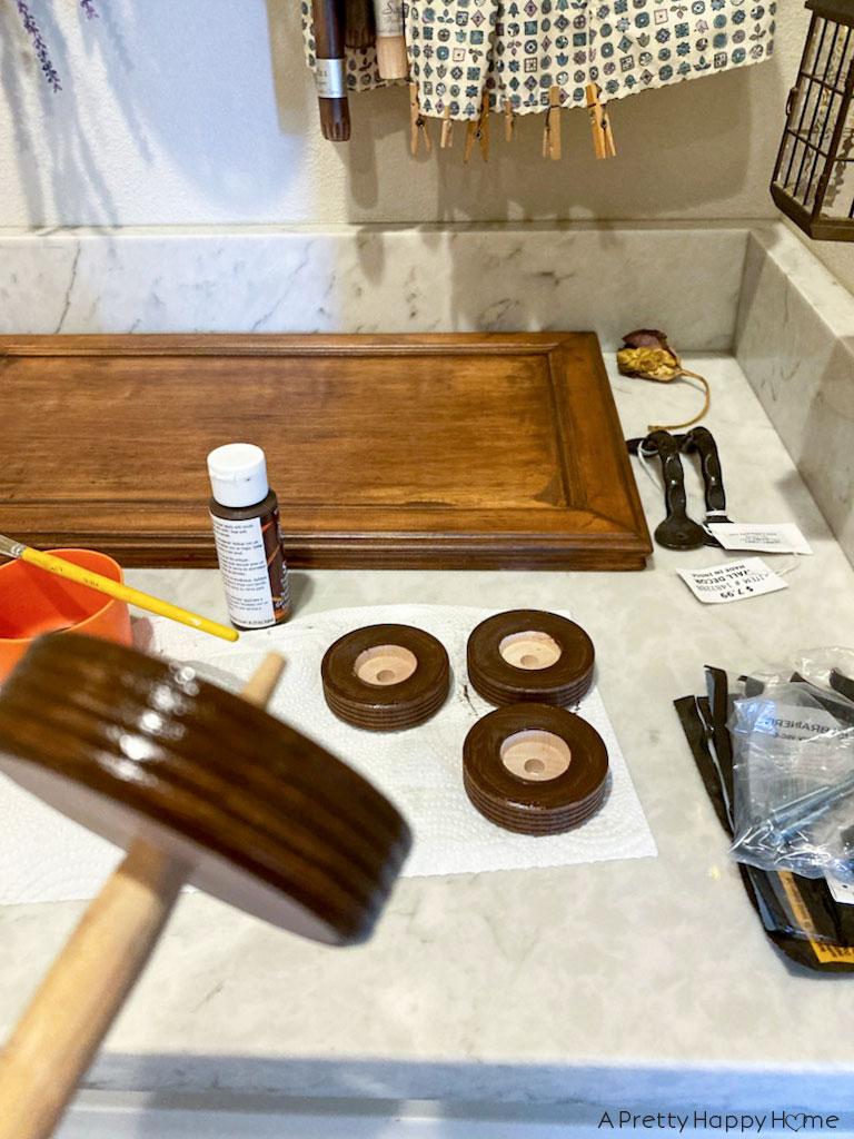 diy cabinet door tray