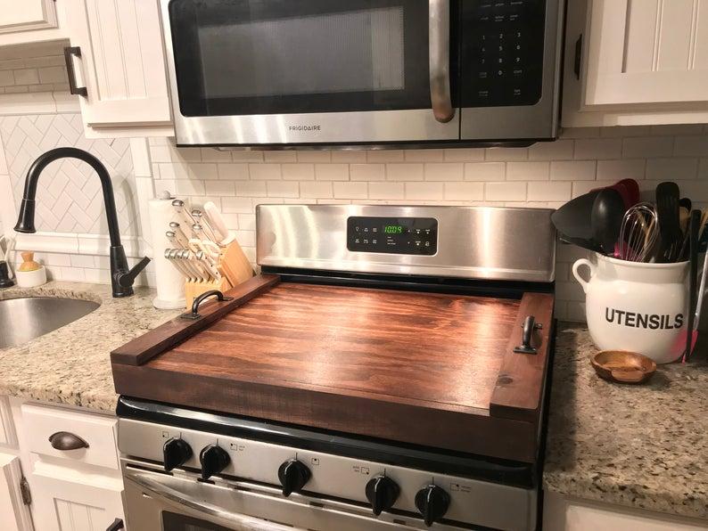 stove cover by suburban farmhouse llc via etsy on the happy list