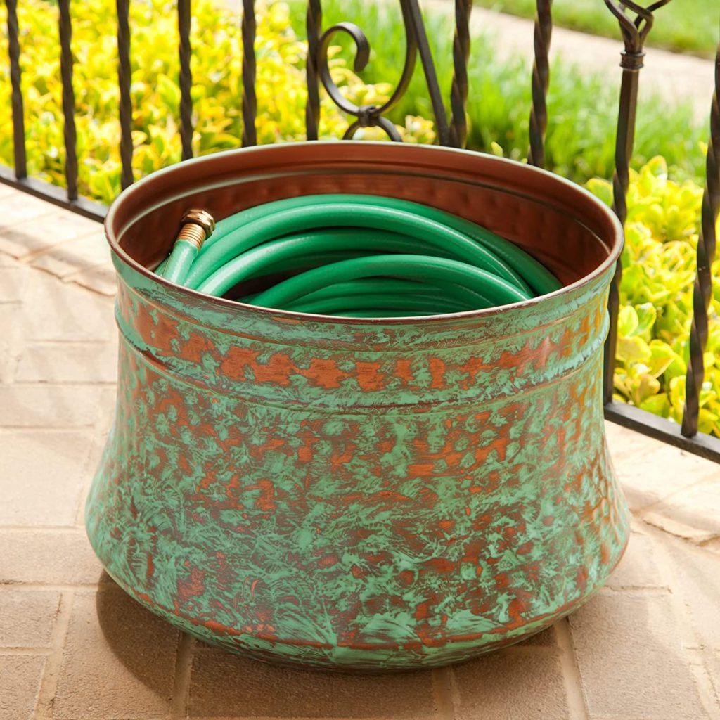patina garden hose via amazon on the happy list