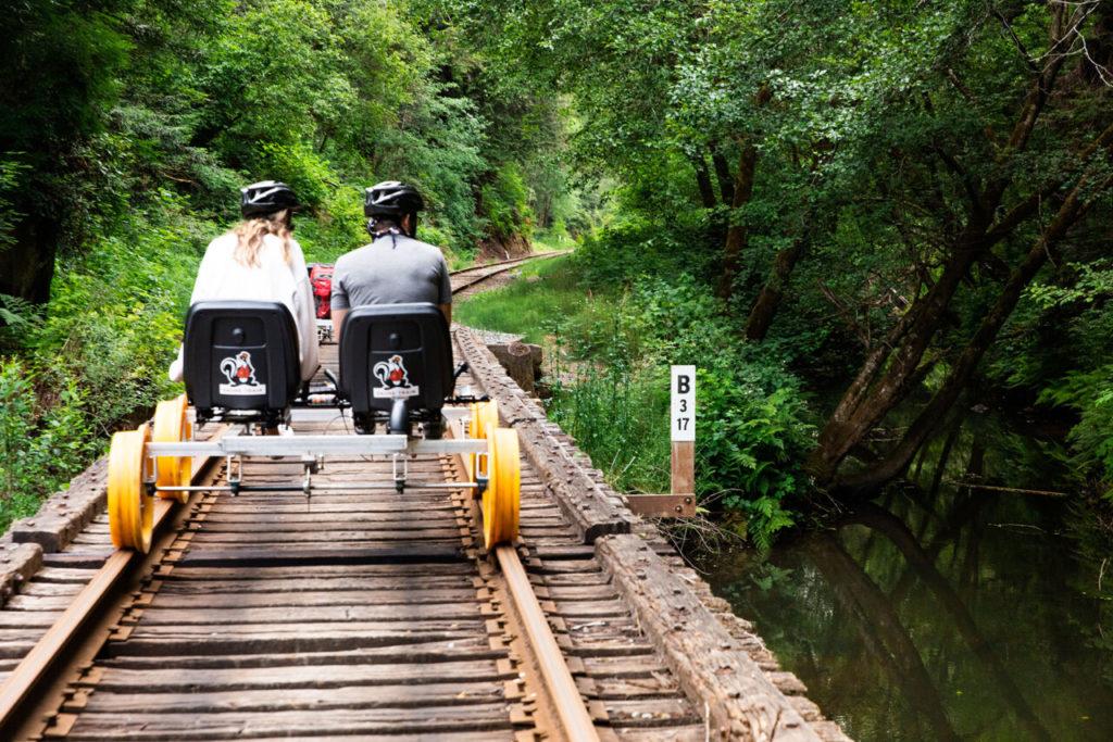 railbike mendocino bikeway brendan McGuigan via this is colossal on the happy list