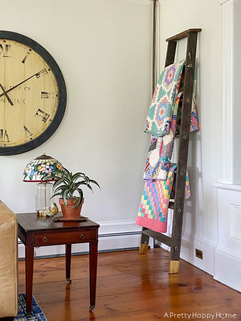 Blanket Ladder With DIY Brass Leg Tips