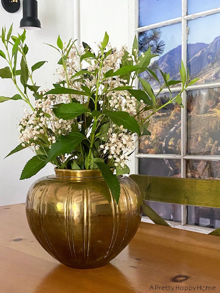 brass vase thrift store finds