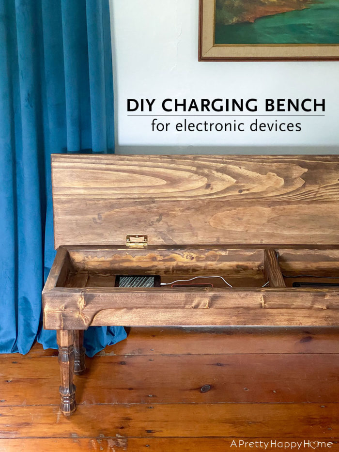 diy charging bench for electronic devices