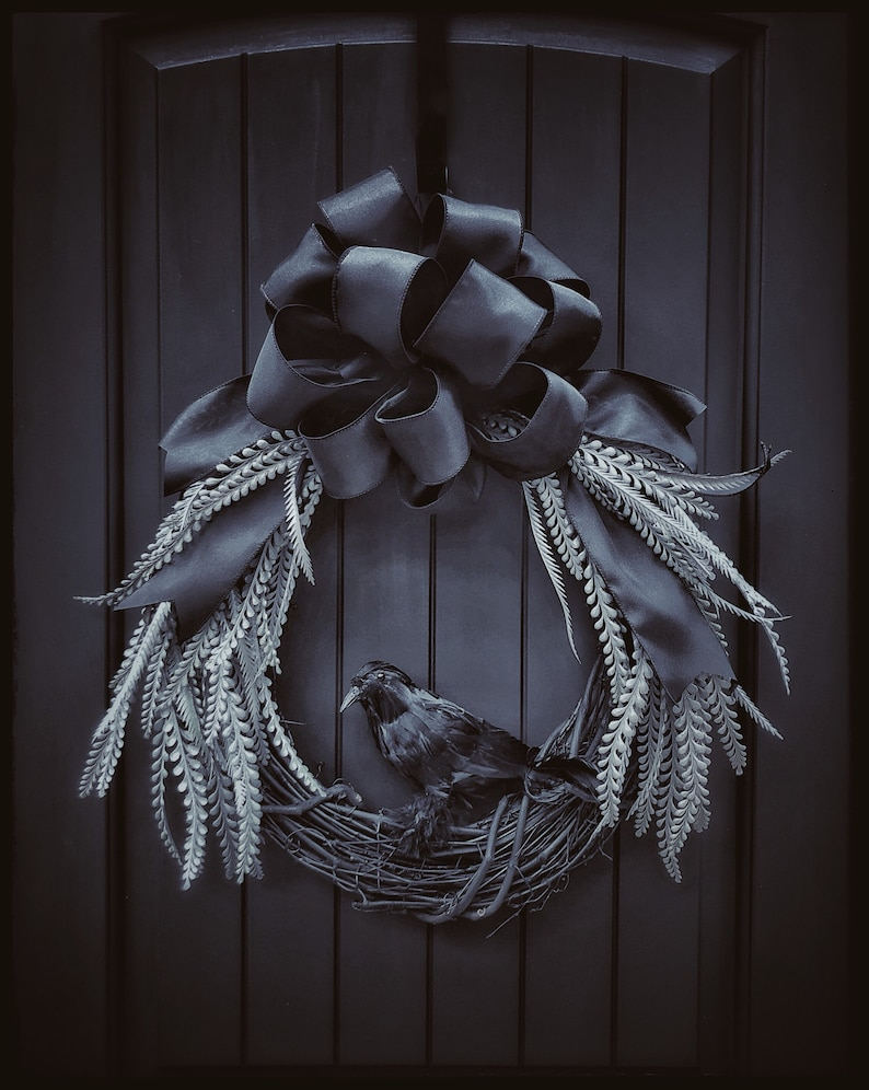 Five Star Flora in Gifts via Etsy Halloween Wreath Gothic 13 Fall Wreaths
