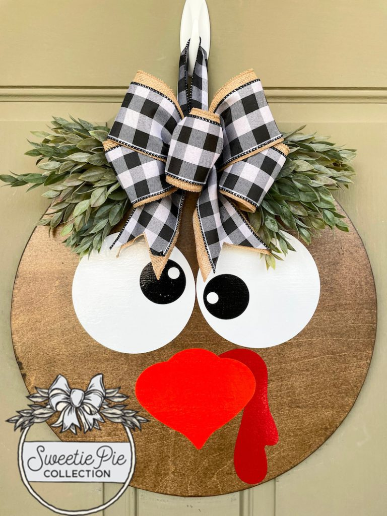 sweetie pie collection etsy turkey thanksgiving wreath 13 Fall Wreaths