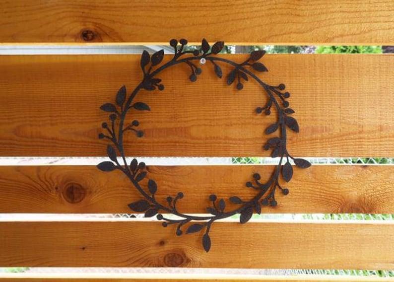 rusty birds shop etsy metal fall wreath 13 Fall Wreaths
