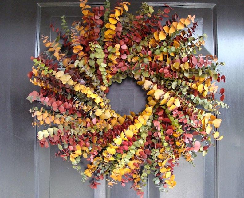 elegant wreath etsy fall wreath eucalyptus 13 Fall Wreaths