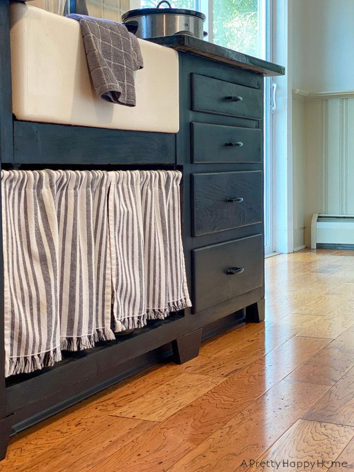 diy scrap wood kitchen cabinet feet