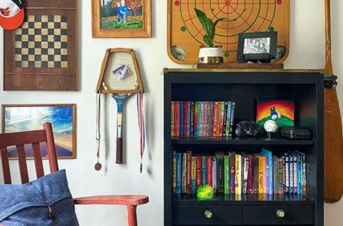 vintage game gallery wall vintage decor