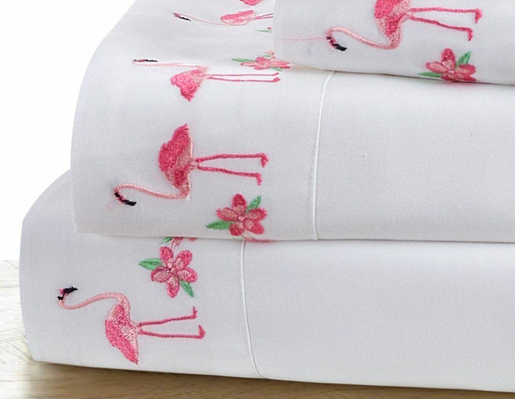 wayfair reagan flamingo embroidered pillowcases