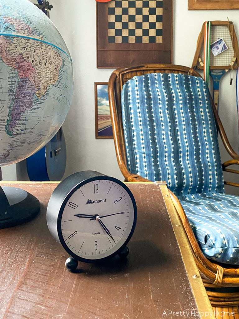 vintage battery powered alarm clock on the happy list