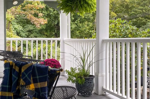 not quite fall front porch colonial farmhouse