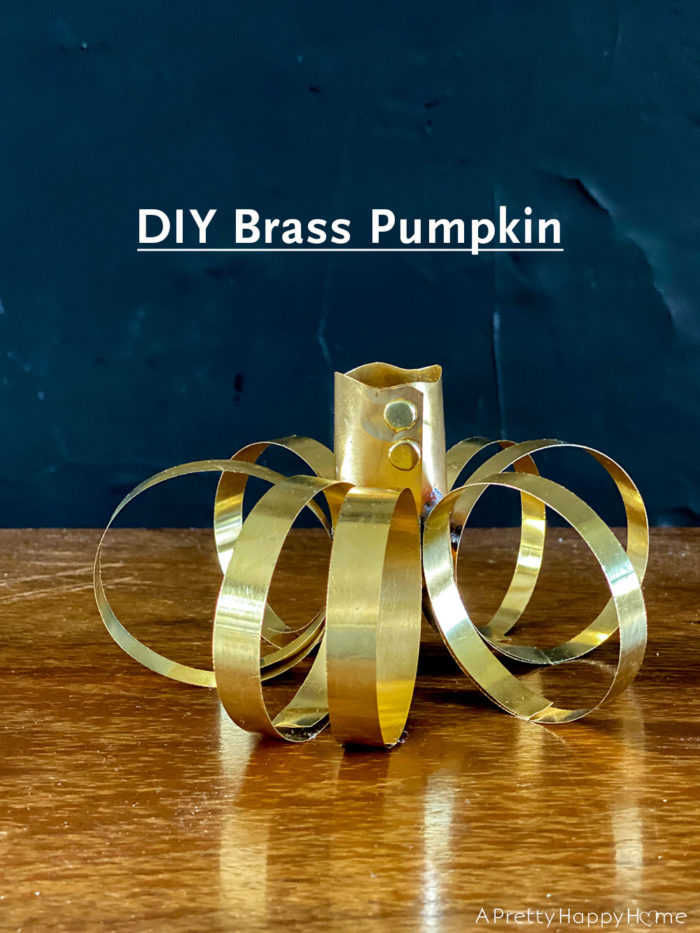 diy brass pumpkin